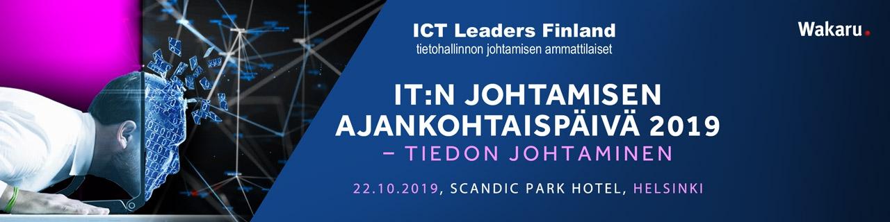 IT:n johtamisen ajankohtaispäivä 2019 - tiedon johtaminen