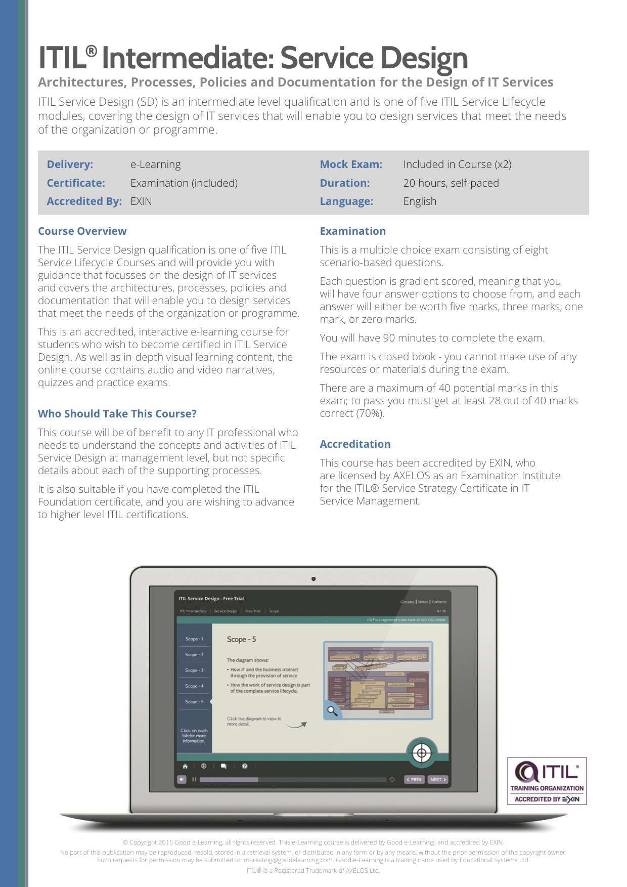 Itil Service Design Sd E Learning And Exam Oppia E