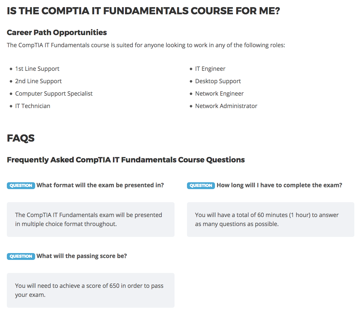 Comptia It Fundamentals Exam Oppia E Commerce Of Learning