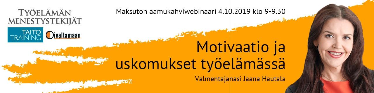 Motivaatio ja uskomukset työelämässä