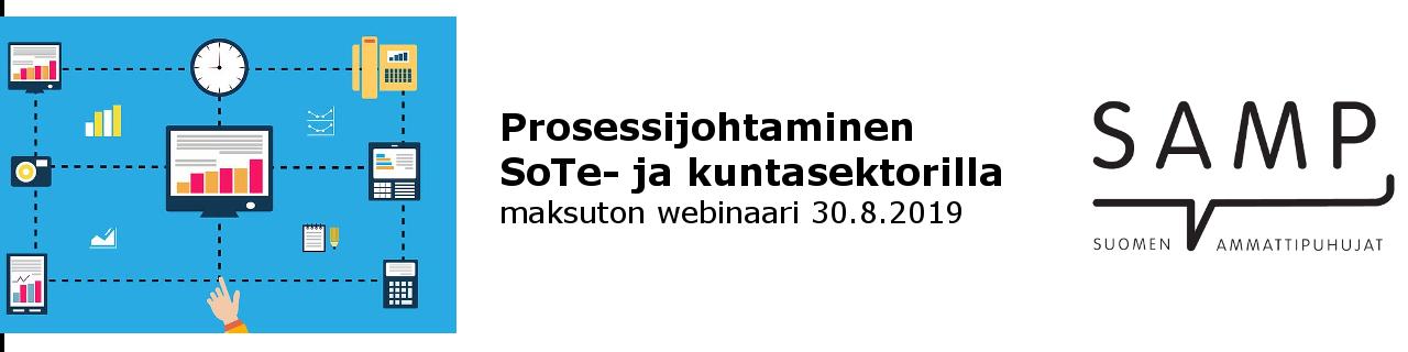 Prosessijohtaminen SoTe- ja kuntasektorilla