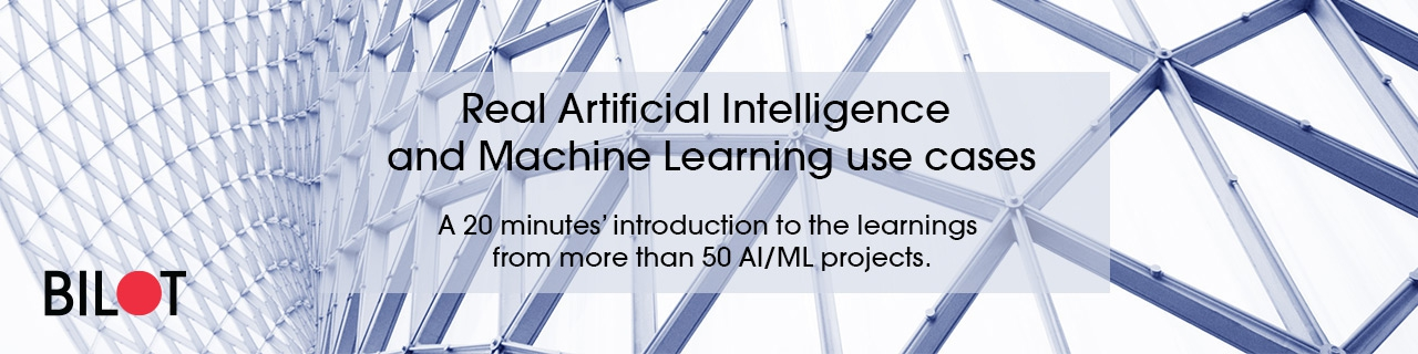Real Artificial Intelligence and Machine Learning use cases