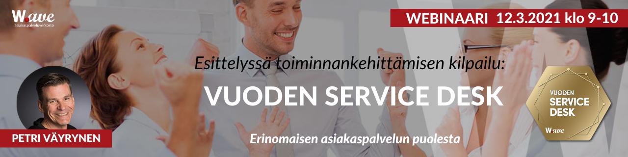 Wave-webinaari: Vuoden Service Desk -kilpailu